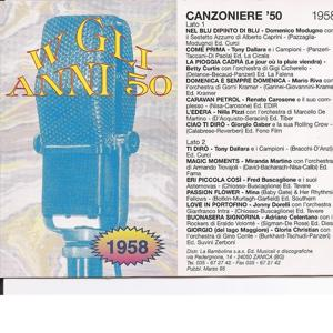 Canzoniere '58 - Canzoni Originali Del 1958