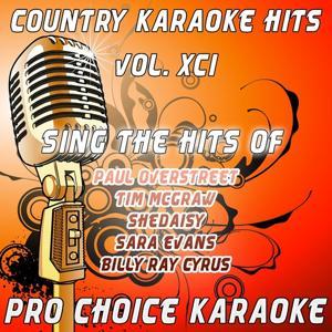 Country Karaoke Hits, Vol. 91 (The Greatest Country Karaoke Hits)