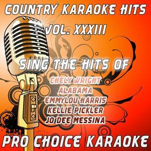 Country Karaoke Hits, Vol. 33 (The Greatest Country Karaoke Hits)