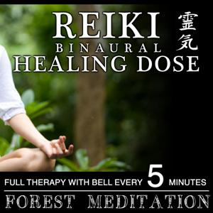 Reiki Binaural Healing Dose Forest Meditation (1h Full Therapy With Bell Every 5 Minutes)