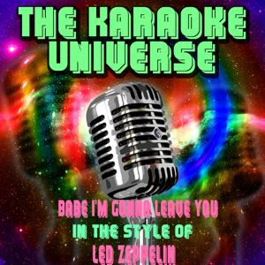 Babe I'm Gonna Leave You (Karaoke Version) [In the Style of Led Zeppelin]