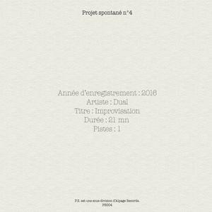 Projet spontané, vol. 4